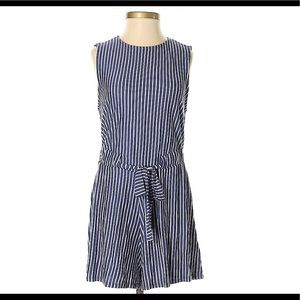 Urban Outfitters Blue and White Striped Romper